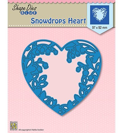 Nellies Choice mallen SDB008 Snowdrops heart