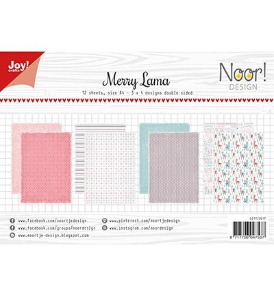 Joy!Crafts 6011/0617 Papierblok Merry Lama