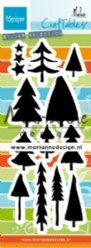 Marianne Design mallen CR1483 Trees by Marleen