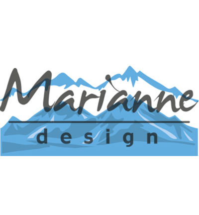 Marianne Design mallen LR0493 Snowy Mountains