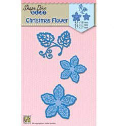 Nellies Choice mallen SDB060 Christmas Flower