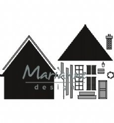 Marianne Design mallen CR1437 Build a house
