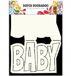 Dutch Doobadoo Card Art 3647 Text Baby
