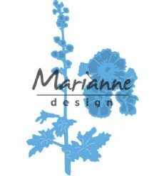 Marianne Design mallen LR0521 Hollyhocks