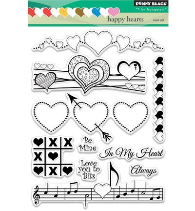Penny Black Stempels 30-326 Happy Hearts
