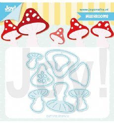 Joy!Crafts mallen 6002/1397 Paddenstoelen