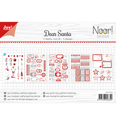 Joy!Crafts Labelvellen Dear Santa
