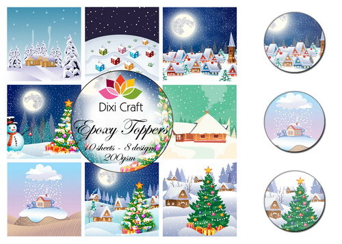 Dixi Epoxy Toppers EPT006 Kerst Winter