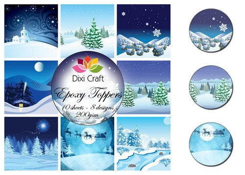 Dixi Epoxy Toppers EPT005 Kerst Winter