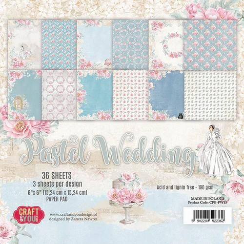 Craft&You Paperpad CP- PW15 Wedding Pastel