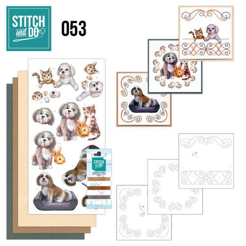 Stitch and Do set STDO053 Huisdieren