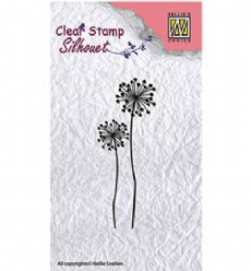 Nellies Choice stempels SIL015 Flower 9