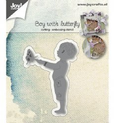 Joy!Crafts mallen 6002/1031 Boy with Butterfly