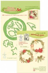 Leane Creatief mallen 45.5398 Christmas Wreath
