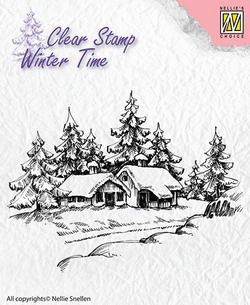 Nellies Choice stempels WT002 Winter House