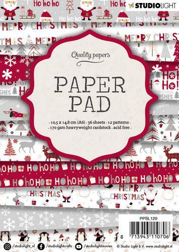 Studio Light Paper Pad PPSL120 Christmas