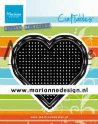Marianne Design mallen CR1482 Cross Stitch Hearts