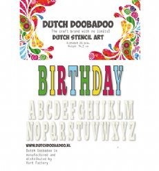 Dutch Doobadoo Stencil Art 0113 Alphabet 5