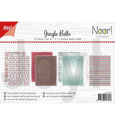 Joy!Crafts 6011/0610 Papierblok Jingle Bells
