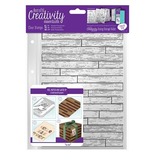 DoCrafts stempels DCE907132 Wooden Boards Backgr