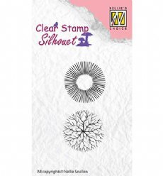 Nellies Choice stempels SIL035 Flowers 17