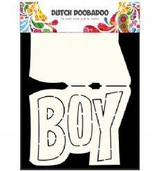 Dutch Doobadoo Card Art 3648 Text Boy