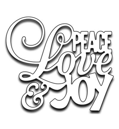 Penny Black mallen 51-267 Peace Love and Joy