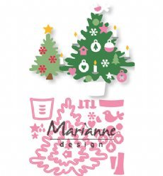 Marianne Design mallen COL1459 Christmas Trees