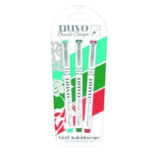 Nuvo 6114 Brush script penset Vivid Kaldeidoscope