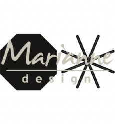 Marianne Design mallen CR1423 Open Star Fold