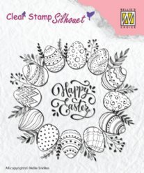 Nellies Choice stempels SIL027 Happy Easter