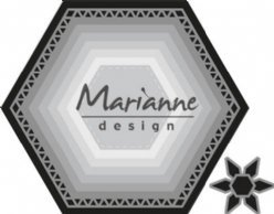 Marianne Design mallen CR1444 Basic Zeshoek