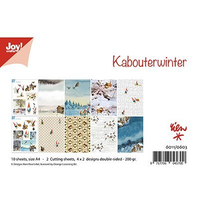 Joy!Crafts 6011/0603 Papierblok Kabouterwinter