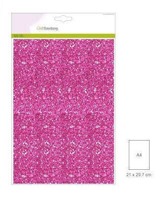 CraftEmotions glitterpapier 0135 Cyclaam