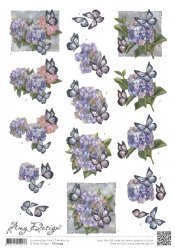 3d knipvel Amy Design CD11093 Hortensias