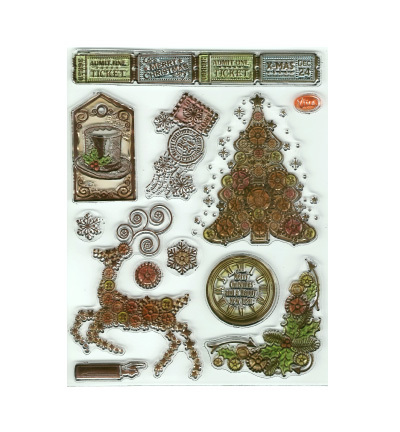 Viva Decor stempels 7013 Kerst Steampunk