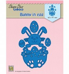 Nellies Choice mallen SDB072 Bunny in Egg