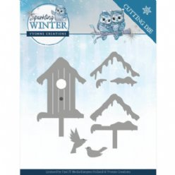 Yvonne Creations SW YCD10190 Winter Birdhouse