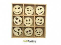 CraftEmotions Houten Box 0233 Emoticons
