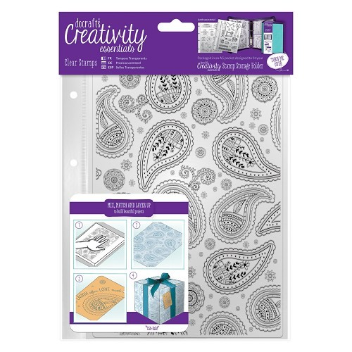 DoCrafts stempels 907103 Paisley Background