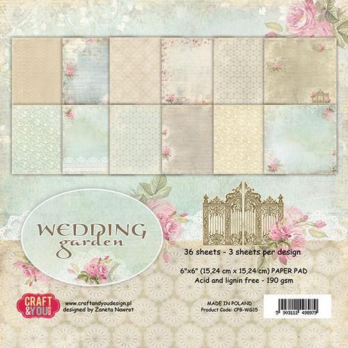 Craft&You Paperpad CPB-WG15 Wedding Garden