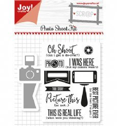 Joy!Crafts mallen en stempels 6004/0029 Photo Kit