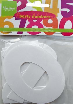 Marianne Design CA3111 Party numbers Large