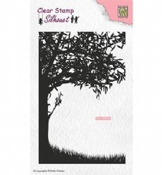 Nellies Choice stempels SIL048 Scene w/ Tree