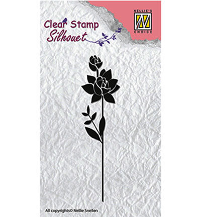 Nellies Choice stempels SIL017 Flower Silhouette