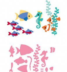 Marianne Design mallen COL1431 Tropical Fish