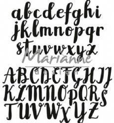 Marianne Design mallen CR1416 Brush Script