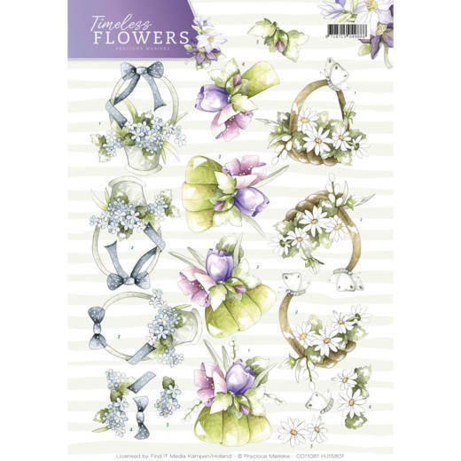 Marieke TF CD11081 3d knipvel Bouquets