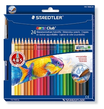 Staedtler Noris Club aquarell - set 24 st. + pense