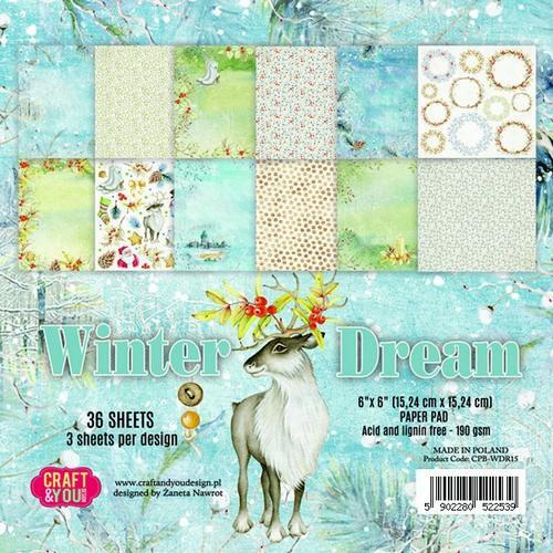 Craft &You Paperpad CPB-WDR15 Winter Dreams